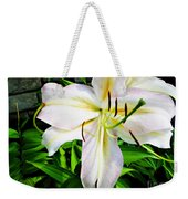 Summer White Madonna Lily Weekender Tote Bag