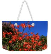 Montbretia, Summer Wildflowers Weekender Tote Bag