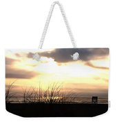 Sun Behind The Clouds On The Beach Weekender Tote Bag