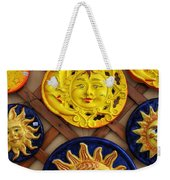 Sun Faces On The Island Of Capri Italy Weekender Tote Bag