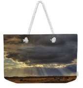 Sun Rays Through Clouds Over Three Old Weekender Tote Bag