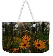 Sunburst On Sunflowers Weekender Tote Bag