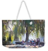Sunday Afternoon By The Fontain Weekender Tote Bag
