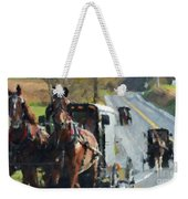 Sunday Ride Weekender Tote Bag
