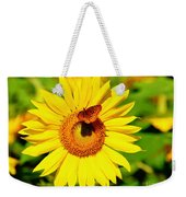 Sunflower And Butterfly Weekender Tote Bag