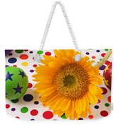 Sunflower And Colorful Balls Weekender Tote Bag