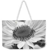 Sunflower Bloom Black And White Weekender Tote Bag