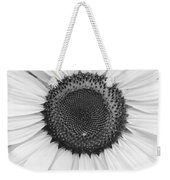 Sunflower Center Black And White Weekender Tote Bag