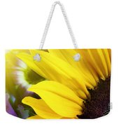 Sunflower Closeup In Landscape Weekender Tote Bag