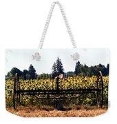 Sunflower Farm Scene Weekender Tote Bag