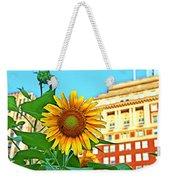 Sunflower In The City Weekender Tote Bag