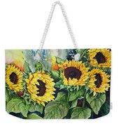 Sunflower Serenade Weekender Tote Bag