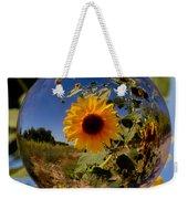 Sunflower Through A Glass Eye Weekender Tote Bag