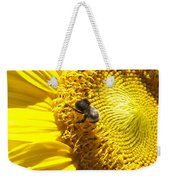 Sunflower With Bee Weekender Tote Bag
