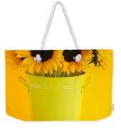 Sunflowers In Vase Weekender Tote Bag
