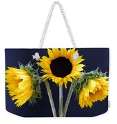 Sunflowers Three Weekender Tote Bag