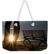 Sunlight And Bench Weekender Tote Bag