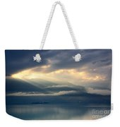 Sunlight And Clouds Over An Alpine Lake Weekender Tote Bag