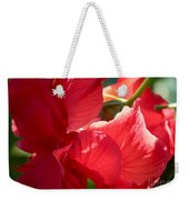 Sunlight On Red Hibiscus Weekender Tote Bag