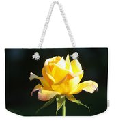 Sunlight On Yellow Rose Weekender Tote Bag