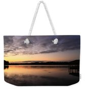 Sunrise And Fish And Docks Weekender Tote Bag