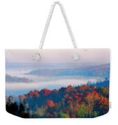 Sunrise And Fog In The Cumberland River Valley Weekender Tote Bag