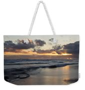 Sunrise At Bamburgh Beach Weekender Tote Bag