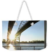 Sunrise Blue Water Bridges Weekender Tote Bag