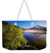 Sunrise Fog On Trillium Lake Weekender Tote Bag