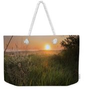 Sunrise On A Dew-covered Cattle Pasture Weekender Tote Bag