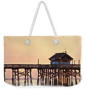 Sunrise On Rickety Pier Weekender Tote Bag