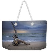 Sunrise On The Beach With Driftwood At Oscoda Weekender Tote Bag