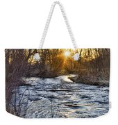 Sunrise On The St Vrain River Weekender Tote Bag
