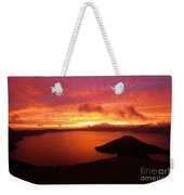Sunrise Over Crater Lake Weekender Tote Bag