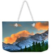 Sunrise Over Crowsnest Pass, Border Weekender Tote Bag