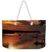 Sunrise Over Southwest Harbor Weekender Tote Bag