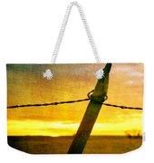 Sunrise Over The Prairie Weekender Tote Bag