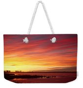 Sunrise Over Union Reservoir In Longmont Colorado Boulder County Weekender Tote Bag