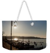 sunrise - First dawn of a spanish town is Es Castell Menorca sun is a special lamp Weekender Tote Bag
