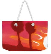 Sunset Abstract Trees Weekender Tote Bag
