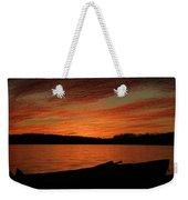 Sunset And Kayak Weekender Tote Bag