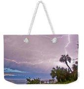 Sunset And Lightning Weekender Tote Bag