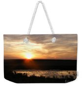 Sunset And Water Weekender Tote Bag