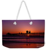 Sunset At Oceanside Pier Weekender Tote Bag