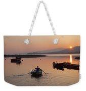 Sunset At Rosdohan Pier Near Sneem Weekender Tote Bag