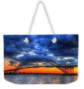Sunset At The Bayonne Bridge Weekender Tote Bag