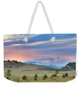 Sunset At The Colorado High Park Wildfire  Weekender Tote Bag