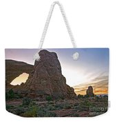 Sunset At Turret Arch Weekender Tote Bag