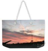 Sunset Battleship Weekender Tote Bag