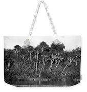 Sunset Black And White Weekender Tote Bag